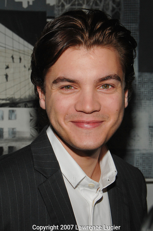 Actor Emile Hirsch arrives at the Motion Picture Club's 67th Annual Awards Luncheon October 11, 2007, at the Marriot Marquis in New York City.. (Pictured : EMILE HIRSCH).