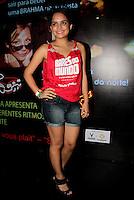 SAO PAULO, SP, 24 DE FEVEREIRO 2012 - CAMAROTE BAR BRAHMA - A atriz Carol Macedo e vista no Camarote Bar Brahma, na noite do Desfile das Campeas do Carnaval de Sao Paulo, na noite desta sexta, 24 no Sambodromo do Anhembi regiao norte da capital paulista. (FOTO: MILENE CARDOSO - BRAZIL PHOTO PRESS).