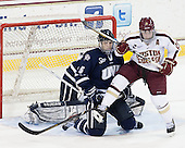 Trevor van Riemsdyk (UNH - 6), Steven Whitney (BC - 21) - The Boston College Eagles defeated the visiting University of New Hampshire Wildcats 5-2 on Friday, January 11, 2013, at Kelley Rink in Conte Forum in Chestnut Hill, Massachusetts.