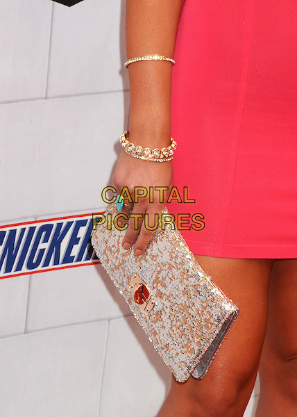 """Brooke Hogan's hand .Spike TV's 6th Annual """"Guys Choice"""" Awards held at Sony Pictures Studios, Culver City, California, USA, .2nd June 2012..detail clutch bag turquoise ring gold bracelets .CAP/ADM/BP.©Byron Purvis/AdMedia/Capital Pictures."""