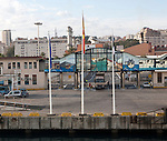 Ferry terminal in the port of Cueta, Spanish territory in north Africa, Spain