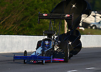 May 17, 2014; Commerce, GA, USA; NHRA top fuel dragster driver Pat Dakin during qualifying for the Southern Nationals at Atlanta Dragway. Mandatory Credit: Mark J. Rebilas-USA TODAY Sports