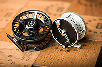 Bozeman Reel's River-Stream Series, left, and S-Handle Classic Series reels cover the gambit for all types of fly fishing situations.