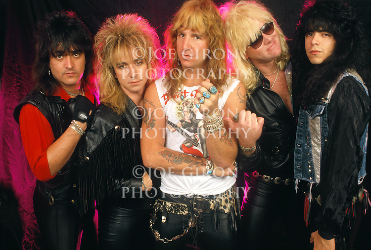 Various portraits & live photographs of the rock band, Great White