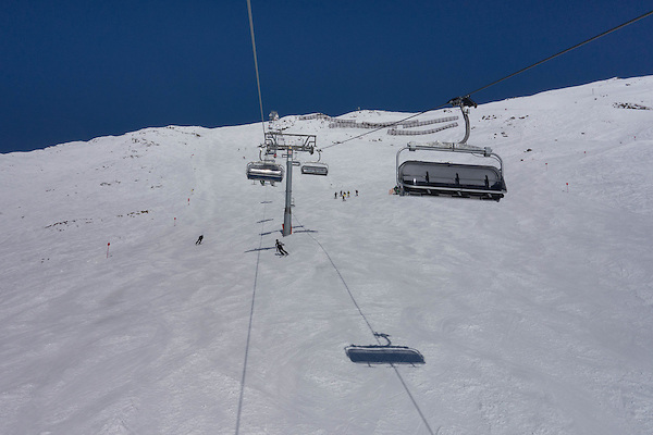 Gampberg Chairlift, Rendl Ski Area at St Anton, Austria,