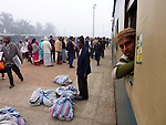 Waiting for the train to depart on a chilly winter morning in Chittagong