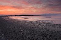 Sunset along the Salton Sea.