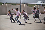 18/04/15. Goktapa, Iraq. Dhuha during the hour of physical education.