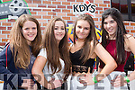mary kate Reidy, Amy murphy, Bena Costello and Finola Keane Listowel   at the KDYS Youth day in the INEC on Sunday
