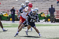 College Park, MD - April 8, 2017: Penn State Nittany Lions Nick Spillane (13) in action during game between Penn State and Maryland at  Capital One Field at Maryland Stadium in College Park, MD.  (Photo by Elliott Brown/Media Images International)