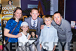 Colm Cooper with family members Helen, Aoife, Liam and Vince at the launch of Gooch The Autobiography in the Gleneagle Hotel on Thursday evening