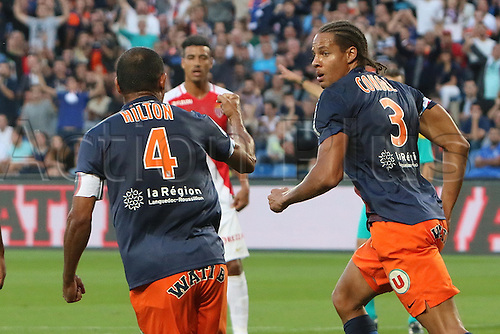 24.09.2015. Montpelier, France. French League 1 football. Montpellier versus AS Monaco.  Goal celebrations from daniel congre