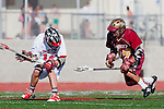 Palos Verdes, CA 03/17/10 - Zack Henkhaus (PV # 12) and George Martinez (Downey # 22) in action during the Downey-Palos Verdes CIF sanctioned game at Palos Verdes High School, PV defeated Downey 17-6.