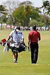 DORAL, FL. - Tiger Woods and Steve Williams during final round play at the 2009 World Golf Championships CA Championship at Doral Golf Resort and Spa in Doral, FL. on March 15, 2009