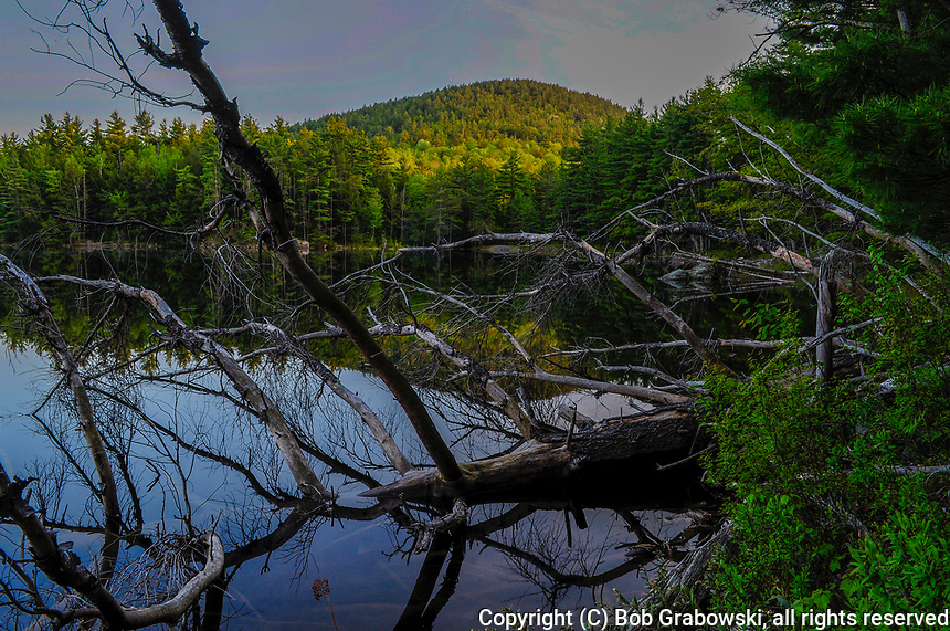 Sunset at Rock Pond in the Pharoah Lake Wilderness Area in the Adirondack Mountains in New York State