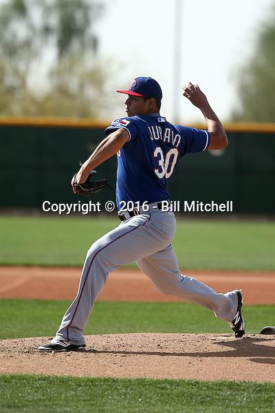 Ariel Jurado - Texas Rangers 2016 spring training (Bill Mitchell)