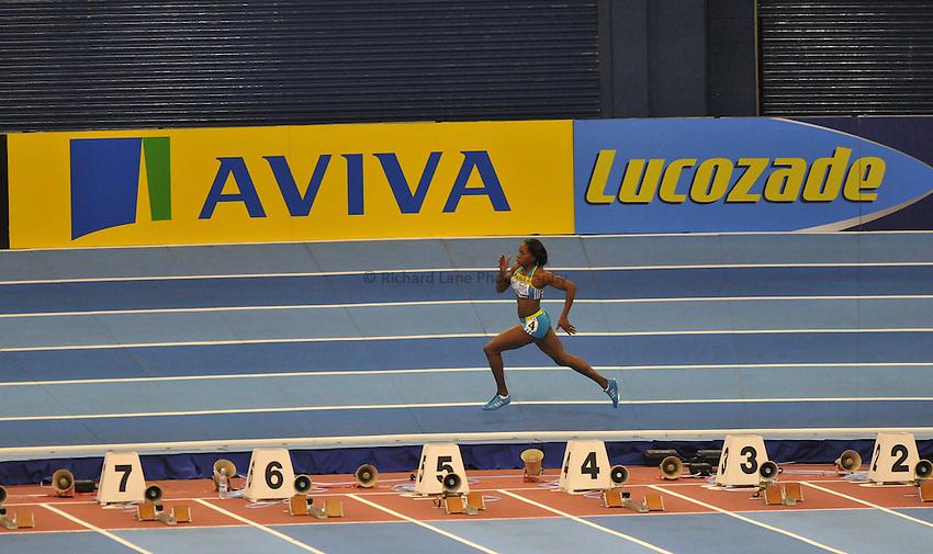 Photo: Tony Oudot/Richard Lane Photography. Aviva Grand Prix. 20/02/2010. .Noviene Williams of Jamaica in the Womens 400m.