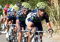 Imanol Erviti injured during the stage of La Vuelta 2012 between Barakaldo and Valdezcaray.August 21,2012. (ALTERPHOTOS/Paola Otero) /NortePhoto.com