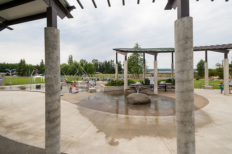 8/2/2015&mdash;Tacoma, WA<br /> <br /> Titlow Sprayground design by Site Workshop<br /> <br /> Photograph by Stuart Isett<br /> &copy;2015 Stuart Isett. All rights reserved.