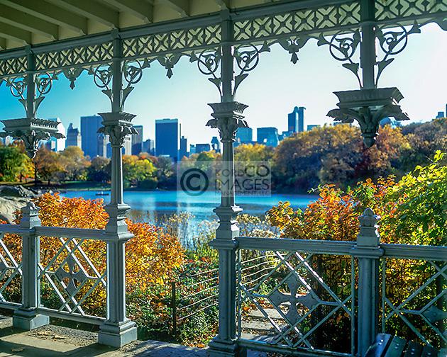 LADIES PAVILION  LAKE CENTRAL PARK MANHATTAN NEW YORK CITY USA