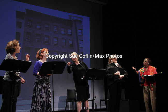 """Good Girls Only"" - the Rehearsal Club Musical - on March 13, 2013 at the Professional Children's School, New York City, New York. Cast: Randy Graff, Mary Lou Barber, Victoria Mallory (6 years on Y&R), Jane Summerhayes and Ernestine Jackson. (Photo by Sue Coflin/Max Photos)  917-647-8403"