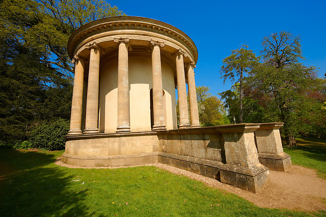 The Palladian  Style Temple of Ancient Virtue designed by William Kent in 1731 , Stowe, Buckingham, England