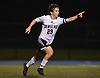 Jordan Miller #29 of Jericho reacts after scoring a goal in the first half of a Nassau County Conference A-3 varsity boys soccer game against host Hewlett High School on Wednesday, Oct. 10, 2018. Hewlett won by a score of 4-2.