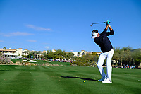 Bubba Watson (USA) on the 4th tee during the 2nd round of the Waste Management Phoenix Open, TPC Scottsdale, Scottsdale, Arisona, USA. 01/02/2019.<br /> Picture Fran Caffrey / Golffile.ie<br /> <br /> All photo usage must carry mandatory copyright credit (© Golffile | Fran Caffrey)