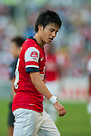 Ryo Miyaichi of Arsenal FC in action during the pre-season Asian Tour friendly match against Kitchee FC at the Hong Kong Stadium on July 29, 2012. Photo by Victor Fraile / The Power of Sport Images