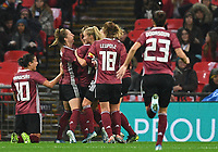 9th November 2019; Wembley Stadium, London, England; International Womens Football Friendly, England women versus Germany women; Klara Buhl of Germany celebrates with her team on scoring her teams second goal in 79th minute 1-2 - Editorial Use