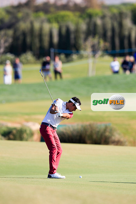 Carlos Pigem (ESP) on the 17th during the 1st round of the 2017 Portugal Masters, Dom Pedro Victoria Golf Course, Vilamoura, Portugal. 21/09/2017<br /> Picture: Fran Caffrey / Golffile<br /> <br /> All photo usage must carry mandatory copyright credit (&copy; Golffile | Fran Caffrey)