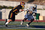 San Diego, CA 05/29/10 - Andrew Hayden (LCC# 21) and Tucker Chambers (Torrey Pines # 30) in action during the 2010 CIF San Diego Section Boys Lacrosse Championship game between Torrey Pines and La Costa Canyon, La Costa Canyon  defeated Torrey Pines 12-6 for the title.