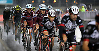 PICTURE BY MARK GREEN/SWPIX.COM ATP  Tour of Abu Dhabi - Yas Island Stage, UAE, 26/02/17<br /> Riders in the rain on the Yas Marina stage of the 2017 Tour of Abu Dhabi