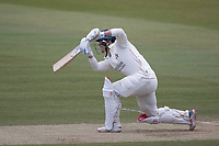 Rob Jones of Lancashire CCC drives through extra cover during Middlesex CCC vs Lancashire CCC, Specsavers County Championship Division 2 Cricket at Lord's Cricket Ground on 13th April 2019