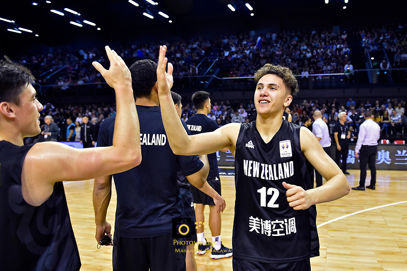 New Zealand Tall Blacks&rsquo; Kruz Perrott-Hunt, FIBA World Cup Basketball Qualifier - NZ Tall Blacks v Syria at TSB Bank Arena, Wellington, New Zealand on Sunday 2 2018. <br /> Photo by Masanori Udagawa. <br /> www.photowellington.photoshelter.com