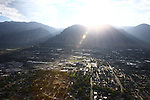 1309-22 0010<br /> <br /> 1309-22 BYU Campus Aerials<br /> <br /> West looking East, Provo, Sunrise<br /> <br /> September 6, 2013<br /> <br /> Photo by Jaren Wilkey/BYU<br /> <br /> © BYU PHOTO 2013<br /> All Rights Reserved<br /> photo@byu.edu  (801)422-7322