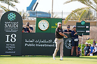 Graeme McDowell (NIR) on the 18th during Round 4 of the Saudi International at the Royal Greens Golf and Country Club, King Abdullah Economic City, Saudi Arabia. 02/02/2020<br /> Picture: Golffile | Thos Caffrey<br /> <br /> <br /> All photo usage must carry mandatory copyright credit (© Golffile | Thos Caffrey)