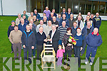 Mike Keane, Gneeveguilla, standing centre is given a fond farewell by his colleagues on his last day at work in the Office of Public Works, Muckross, Killarney on Friday following his retirement after 31 years of service..