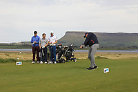Gary Cullen (Portmarnock Links) on the 12th tee during the Flogas Irish Amateur Open Championship 2019 at the Co.Sligo Golf Club, Rosses Point, Sligo, Ireland. 15/05/19<br /> <br /> Picture: Thos Caffrey / Golffile<br /> <br /> All photos usage must carry mandatory copyright credit (© Golffile | Thos Caffrey)