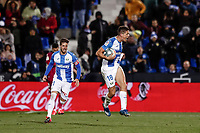 29th February 2020; Estadio Municipal de Butarque, Madrid, Spain; La Liga Football, Club Deportivo Leganes versus Deportivo Alaves; Guido Carrilo (CD Leganes)  celebrates his goal which made it 1-1 in the 59th minute