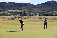Soomin Lee (KOR) putts on the 2nd green during Friday's Round 2 of the 2018 Dubai Duty Free Irish Open, held at Ballyliffin Golf Club, Ireland. 6th July 2018.<br /> Picture: Eoin Clarke | Golffile<br /> <br /> <br /> All photos usage must carry mandatory copyright credit (&copy; Golffile | Eoin Clarke)