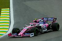 15th November 2019; Autodromo Jose Carlos Pace, Sao Paulo, Brazil; Formula One Brazil Grand Prix, Practice Day; Lance Stroll (CDN) Racing Point F1 Team RP19 - Editorial Use