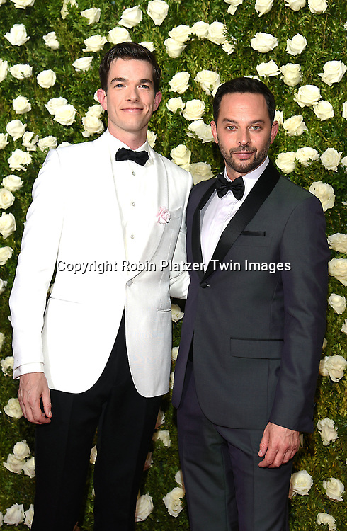 John Mulaney and Nick Kroll attend the 71st Annual  Tony Awards on June 11, 2017 at Radio City Music Hall in New York, New York, USA.<br /> <br /> photo by Robin Platzer/Twin Images<br />  <br /> phone number 212-935-0770