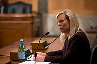 Kirstjen Nielsen during her confirmation hearing to be United States Secretary of Homeland Security before the US Senate Homeland Security and Government Affairs Committee on Capitol Hill in Washington, D.C. on November 8th, 2017. <br /> Credit: Alex Edelman / CNP /MediaPunch
