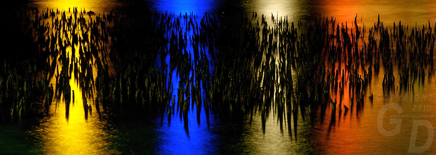 "MANGROVES AND LIGHT,CHUUK, ""PAINTED MANGROVES"" MANGROVES AT NIGHT IN CHUUK, PACIFIC, MICRONESIA"