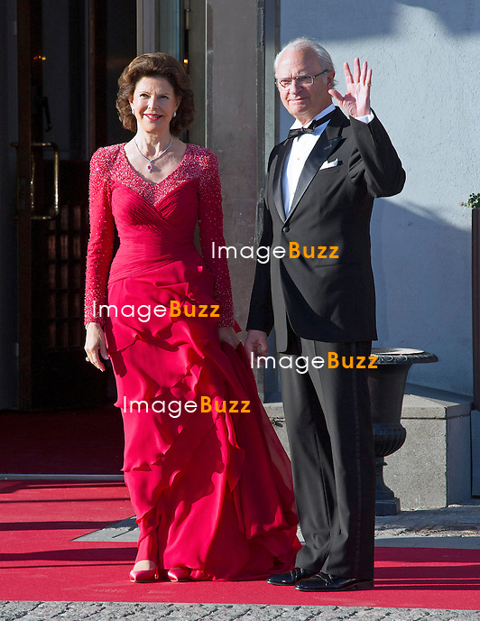 QUEEN SILVIA AND KING CARL GUSTAF<br /> attend a Pre-Wedding Dinner for Princess Madeleine and Christopher O'Neill at the Grand Hotel, Stockholm, Sweden_07/06/2013