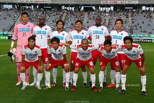 Consadole Sapporo team group line-up (Consadole), OCTOBER 4, 2015 - Football / Soccer : 2015 J2 League match between Tokyo Verdy 0-2 Consadole Sapporo at Ajinomoto Stadium, Tokyo, Japan. (Photo by Shingo Ito/AFLO SPORT)
