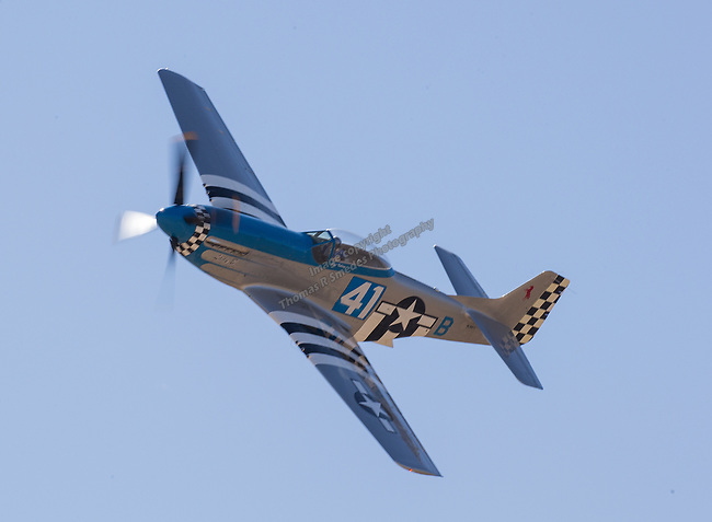 "Michael Pfleger from Scottsdale, AZ pilots ""Lady B"" (41) during the National Championship Air Races in  Reno, Nevada on Saturday, Sept. 14, 2019."