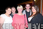 MEMORIAL: On Saturday night at Banna Beach Hotel, a memorial dance for the late Daniel Foley was held in the hotel attending the dance were, Emma Stitson(Ardfert), Olivia Foley Murphy (mother), Alison Howard (Ardfert), Dave Brown (Tralee) and John Smith (Killarney).....