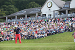 Frenchman Gregory Bourdy watches his birdie putt on the 18th go in to win the ISPS Handa Wales Open 2013 at the<br /> Celtic Manor Resort.<br /> 01.09.13<br /> <br /> &copy;Steve Pope-Sportingwales